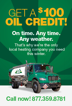 Get a $100 heating oil credit