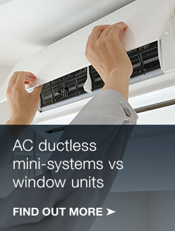 Ductless vs. window AC units