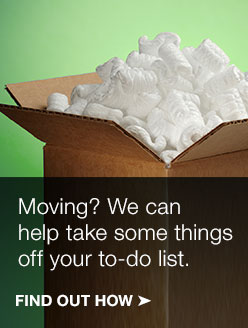 We can help take some things off your moving list!